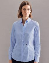 Women`s Blouse Slim Fit Check/Stripes Longsleeve